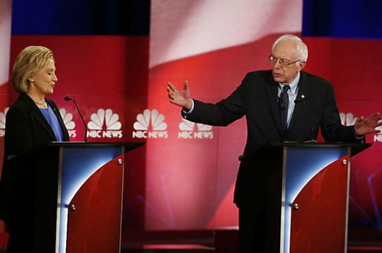 958919_1_Hillary Clinton and Bernie Sanders in debate_standard